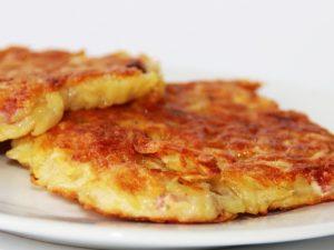 tortitas de papa con queso
